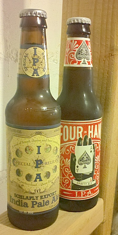 Schafly IPA & Four in Hand IPA