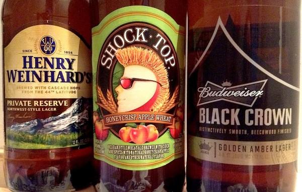 craft vs crafty Budweiser Black Crown shock top honey crisp apple wheat Henry Weinhard's private reserve