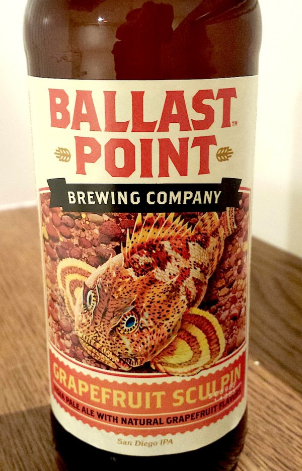 Grapefruit Sculpin by Ballast Point Brewing & Spirits