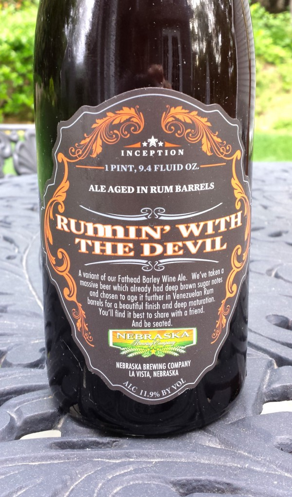 Runnin' With The Devil Barleywine by Nebraska Brewing, La Vista, Nebraska