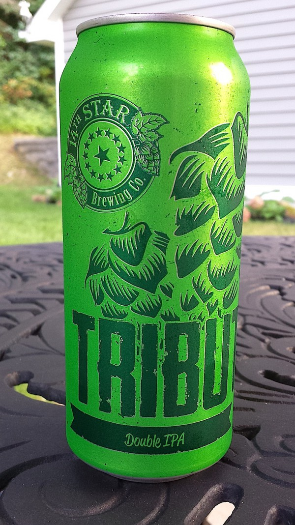 Tribute Double IPA by 14th Star Brewing