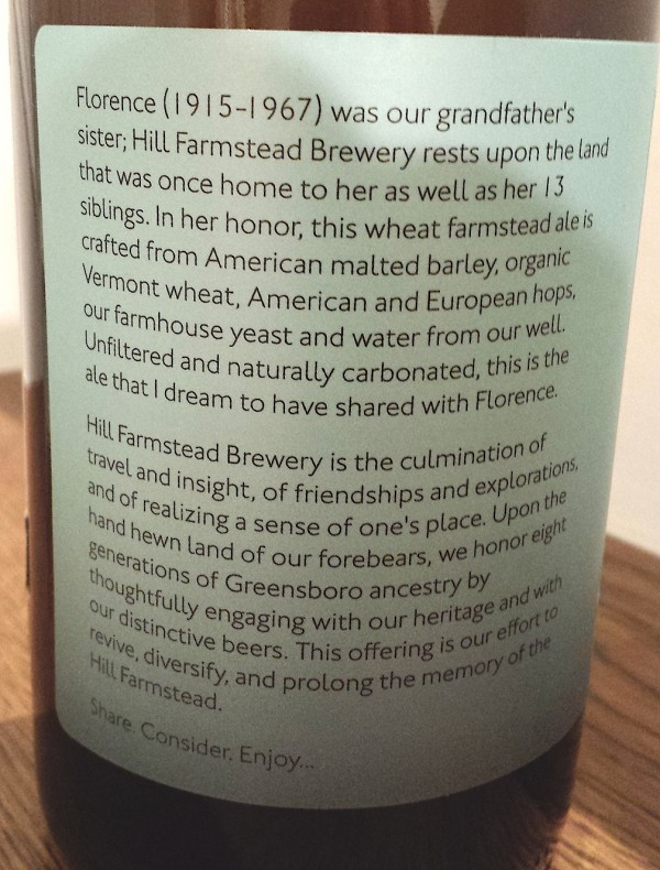 Hill Farmstead Florence