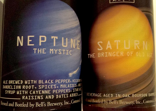 Bell's Planetary Series Saturn Black Ale and Saturn Barleywine