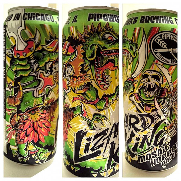 Lizard King Pale Ale by Pipeworks Brewing, Chicago, Illinois