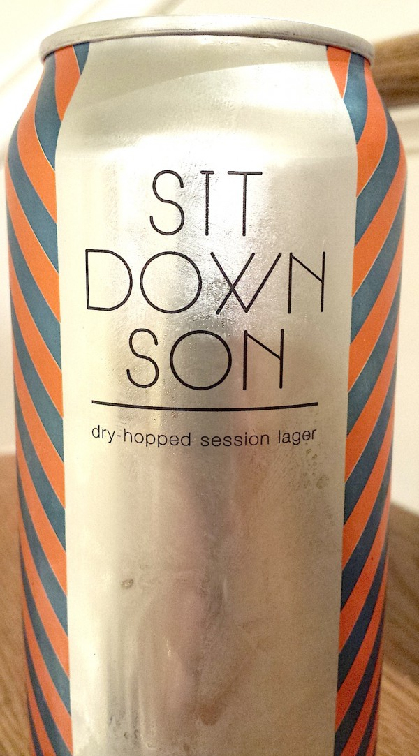 Sit Down Son, a sessionable lager by Carton Brewing