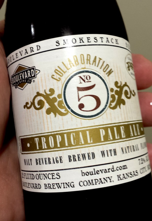 Tropical Pale Ale a collaboration between Boulevard Brewing and Cigar City Brewing