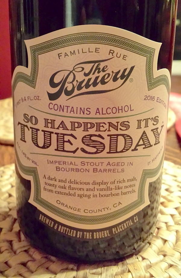 So Happens Its Tuesday by The Bruery