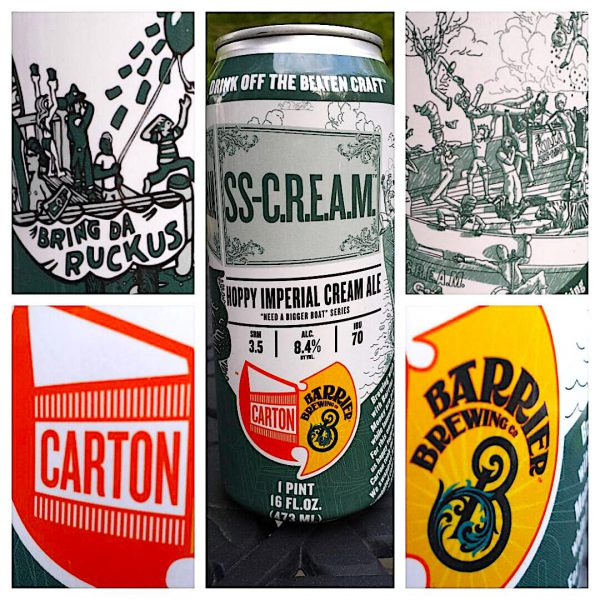 SS Cream, a cream ale by Carton Brewing, NJ & Barrier Brewing, NY