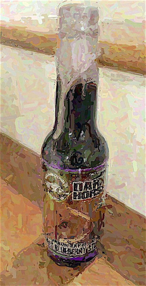 Bourbon Barrel Aged Tres Blueberry Stout by Dark Horse Brewing Company, Marshall, Michigan