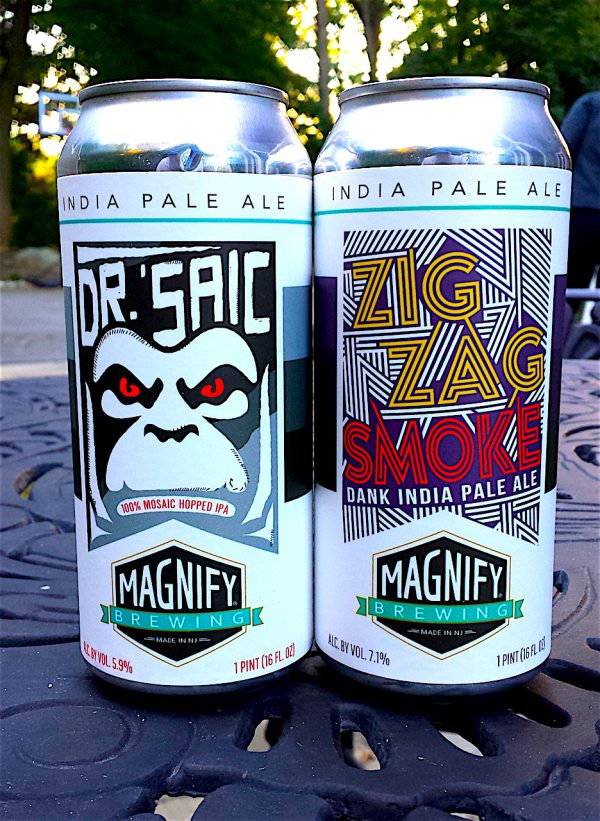 Dr. 'Saic and Zig-Zag Smoke by Magnify Brewing Company Fairfield, NJ