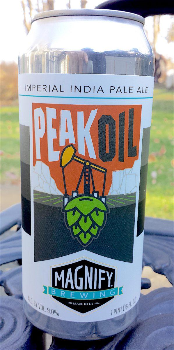 Peak Oil Imperial IPA by Magnify Brewing, Fairfield, NJ