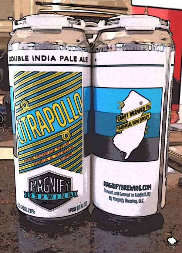 Citrapollo Double IPA brewed by Magnify Brewing