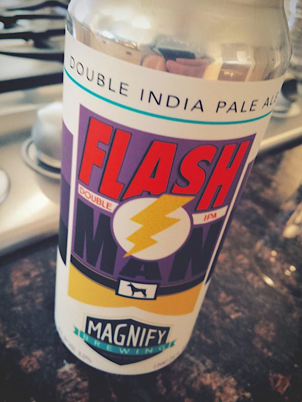 Flash Man Double IPA by Magnify Brewing Company