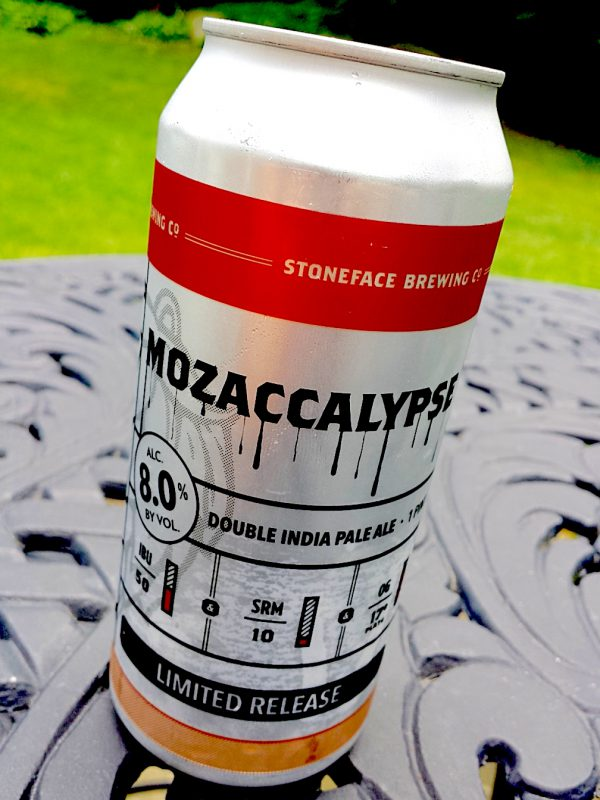 Stoneface Brewing Mozaccalypse Double IPA