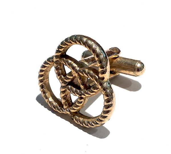 Ballentine cuff links three ring logo
