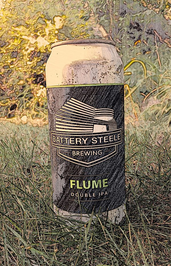 Flume American Double / Imperial IPA by Battery Steele Brewing, Portland, Maine