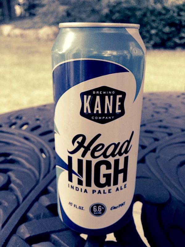 Head High American-style IPA brewed by Kane Brewing Company