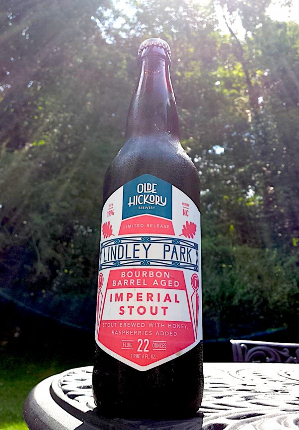 Lindley Park Stout Bourbon Barrel Aged Stout with Raspberries and Honey, brewed by Old Hickory Brewing