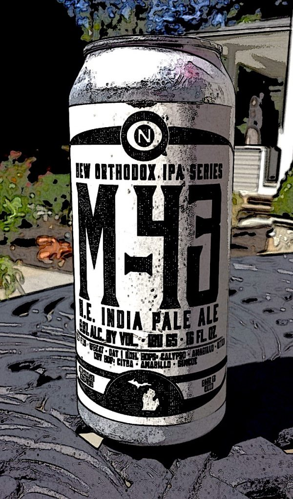 M-43 IPA Old Nation Brewing, NE Style IPA, part of the New Orthodox Series of IPA