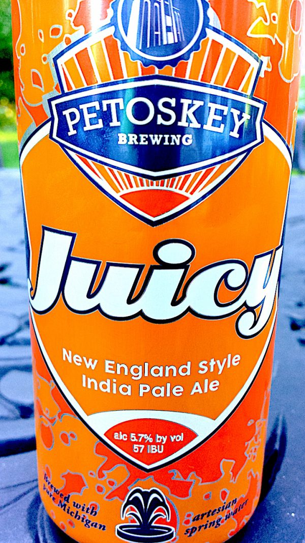 Juicy New England Style IPA brewed by Petoskey Brewing, Petosky, Michigan