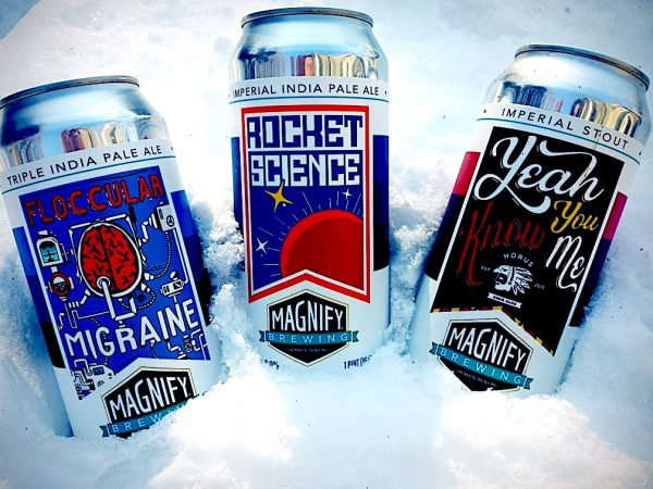 Magnify Brewing Floccular Migrane, Rocket Science and Yeah You Know Me.